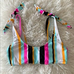 Striped Bathing Suit Top